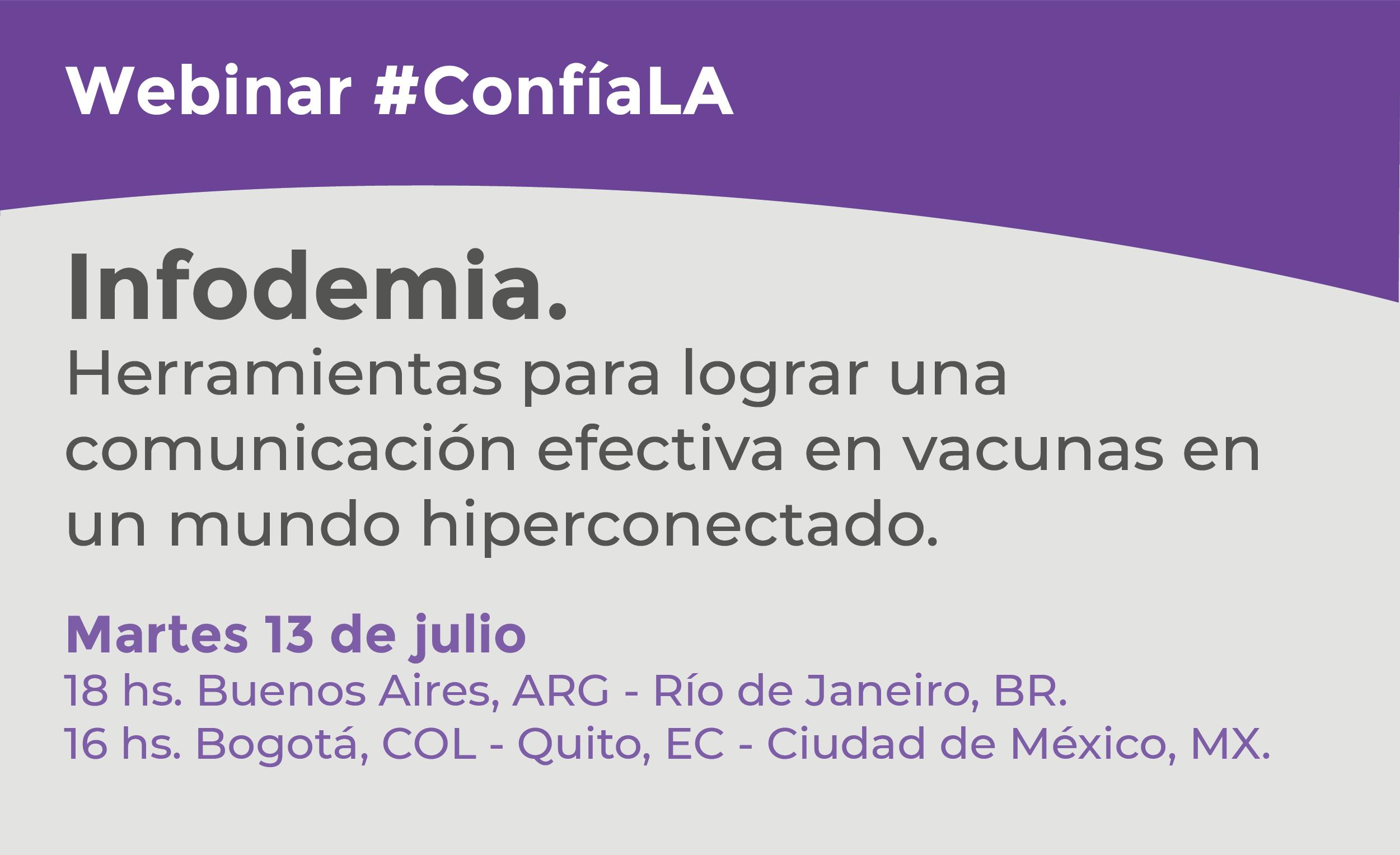 Webinar #ConfíaLA: Infodemia.